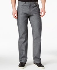 Sean John Hamilton Deco Raw Grey Wash Relaxed Fit Jeans