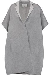 Tibi Wool And Angora Blend Coat Light Gray