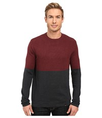 Prana Color Block Sweater Dark Umber Men's Sweater Brown