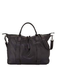 Joshua Leather Satchel Bag Black Kooba