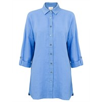 East Oversized Linen Shirt Blue