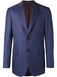 Brioni Two Button Blazer Blue