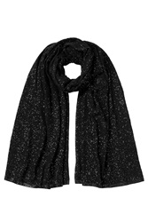 Donna Karan New York Sequined Cashmere Scarf Black