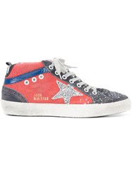 Golden Goose Deluxe Brand Mid Star Sneakers Red