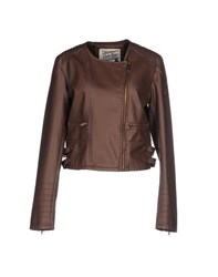 Duck Farm Coats And Jackets Jackets Women Cocoa