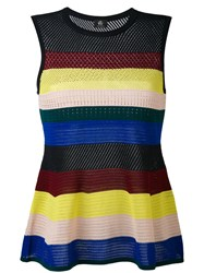 Paul Smith Ps By Stripe Flared Top Women Cotton S