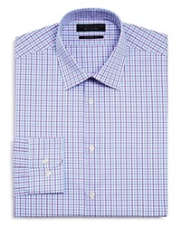 Bloomingdale's The Men's Store At Overcheck Regular Fit Dress Shirt 100 Exclusive Blue