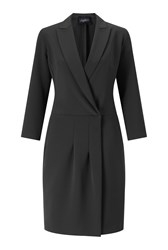 James Lakeland Crossover Dress Black