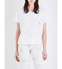 Sundry Star Print Cotton Jersey T Shirt White