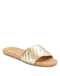 Karl Lagerfeld Lobau Slide Sandals Pale Gold