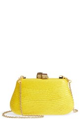 Nordstrom Woven Straw Clutch Yellow Yellow Lilium