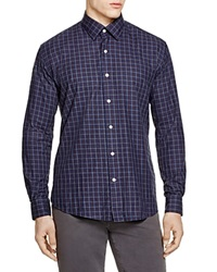 The Men's Store At Bloomingdale's Large Plaid Regular Fit Button Down Shirt Navy Brown