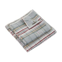 Morris And Co Woodford Plaid Towel Sage Hand Towel