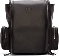 Hood By Air Black Leather Double Zip Backpack