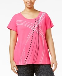Ideology Plus Size Graphic T Shirt Only At Macy's Molten Pink