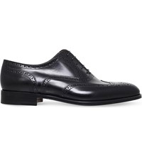 Stemar Wingcap Leather Oxford Brogues Black