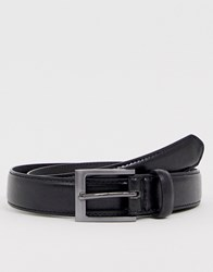 New Look Faux Leather Formal Belt In Black