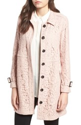 Cupcakes And Cashmere Auretta Lace Trench Coat Pale Pink