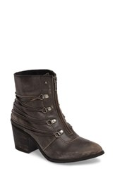 Sbicca Women's Peacekeeper Lace Up Bootie Black Leather