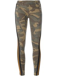 Faith Connexion Camouflage Skinny Trousers Green