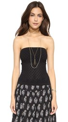 Free People Seamless Diamond Textured Tube Top Black