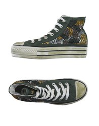 Happiness Footwear High Tops And Trainers Women Dark Green