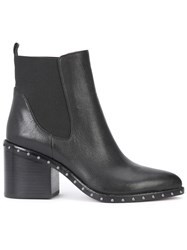 Derek Lam 10 Crosby Studded Sole Ankle Boots Black