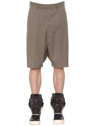 Rick Owens Stretch Cotton Shorts