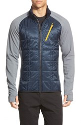 Men's Smartwool 'Corbet 120' Water Resistant Mixed Media Jacket Deep Navy