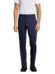 Etro Cotton Blend Dress Pants Navy