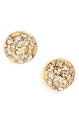 Madewell Women's Pave Stud Earrings Vintage Gold