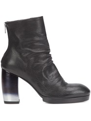 Officine Creative Block Heel Ankle Boots Black