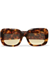 Linda Farrow Square Frame Tortoiseshell Acetate Sunglasses Black