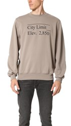 Public School Stoma Pullover With City Limit Print Beige