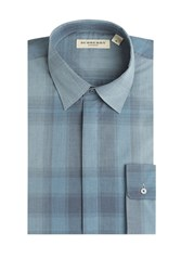 Burberry London Check Print Shirt Blue