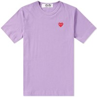 Comme Des Garcons Play Colour Series Logo Tee Purple