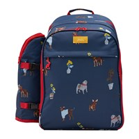 Joules Four Person Picnic Rucksack Blue Dog