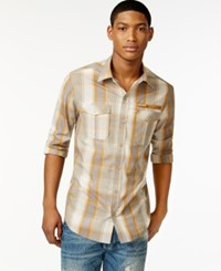 Sean John Multi Tonal Plaid Shirt