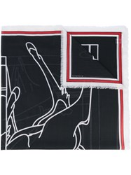 Givenchy Bambi Print Scarf Women Silk Cashmere Virgin Wool One Size Black