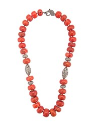 Loree Rodkin Coral Maharajah Beaded Necklace Red