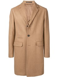 Mauro Grifoni Single Breasted Fitted Coat Brown