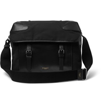 Givenchy Canvas And Leather Messenger Bag Black