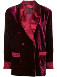 F.R.S For Restless Sleepers Double Breasted Jacket Red