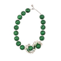 Shourouk Marble Green Necklace