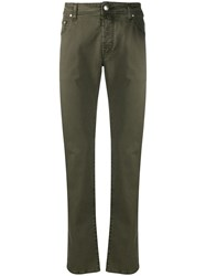 Jacob Cohen Straight Leg Chinos Green