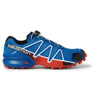 Salomon Speedcross 4 Rubber Trimmed Mesh Sneakers Blue