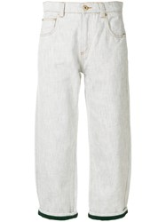 Carven Cropped Trousers Grey