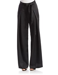 Adrianna Papell Crepe Wide Leg Pants Black