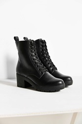 Urban Outfitters Lyle Heeled Lace Up Boot Black
