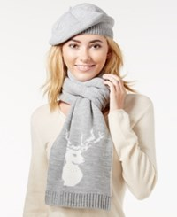 Charter Club Embellished 2 Pc. Scarf And Hat Gift Set Only At Macy's Heather Crystal